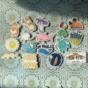 Summer Vibes Sticker Set (8 pcs)
